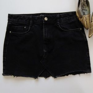 Zara Trafaluc Black Denim Skirt
